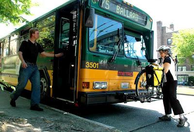 combinación bicicleta bus