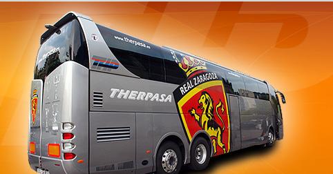 El autobús del Real Zaragoza