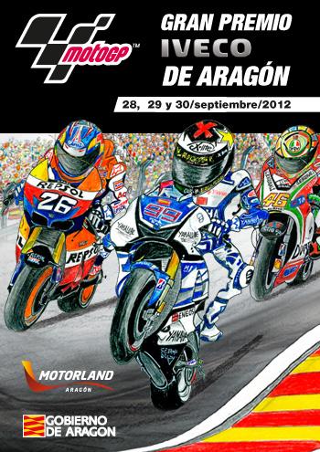 Cartel MotoGP Gran Premio de Aragón 2012