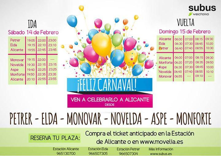 Carnaval Alicante autobuses