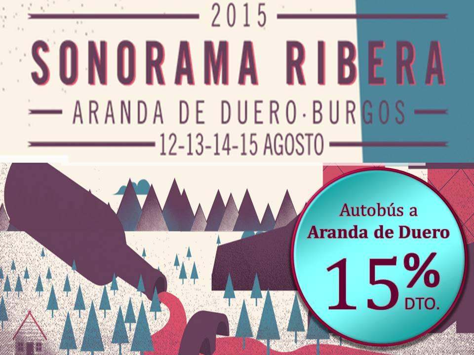 Autobús al Sonorama 2015 con el 15% de descuento