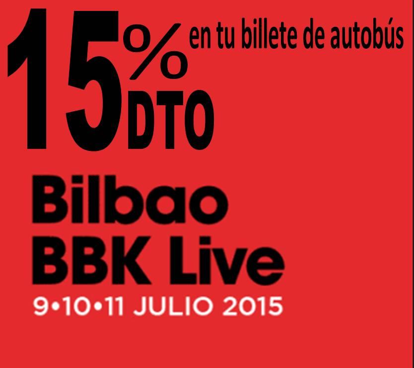 Autobus al BBK Live con el 15% de descuento