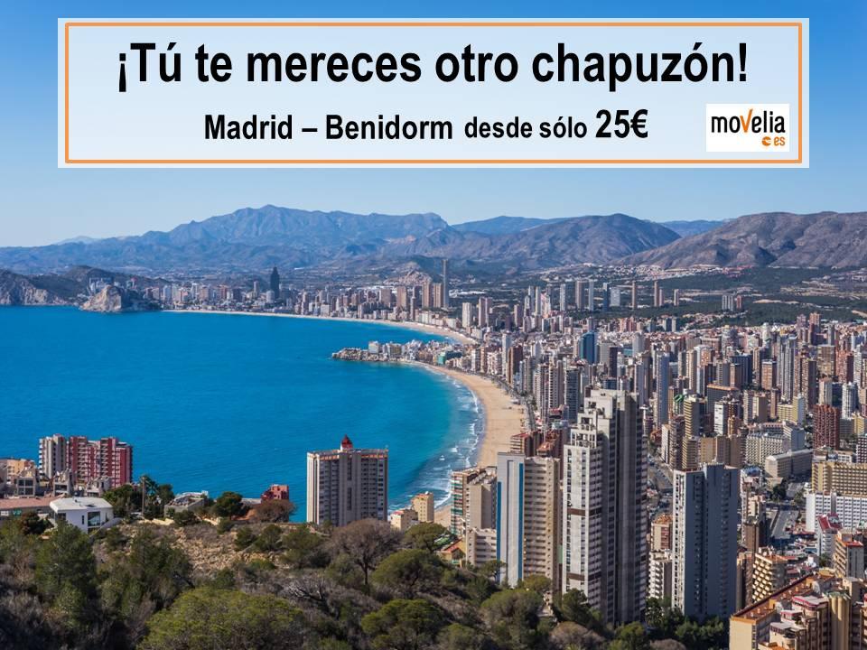 oferta autobús Madrid - Benidorm