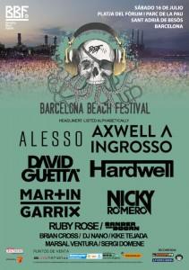 barcelona beach festival cartel 2016